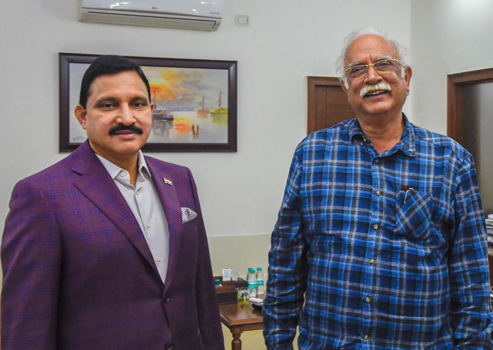 TDP leaders YS Chowdary and Ashok Gajapathi Raju after