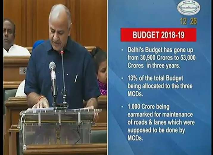 India Tv - Amount of Delhi Budget proposed to be RS 53,000 crores for FY 2018-19