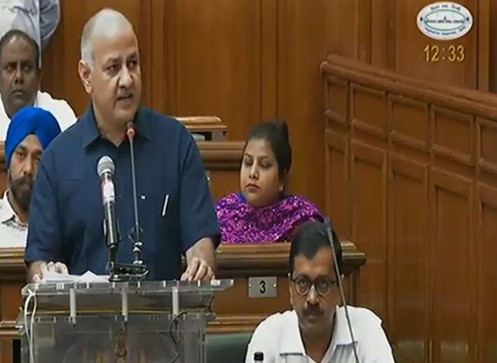 Delhi Finance Minister Manish Sisodia presents green budget