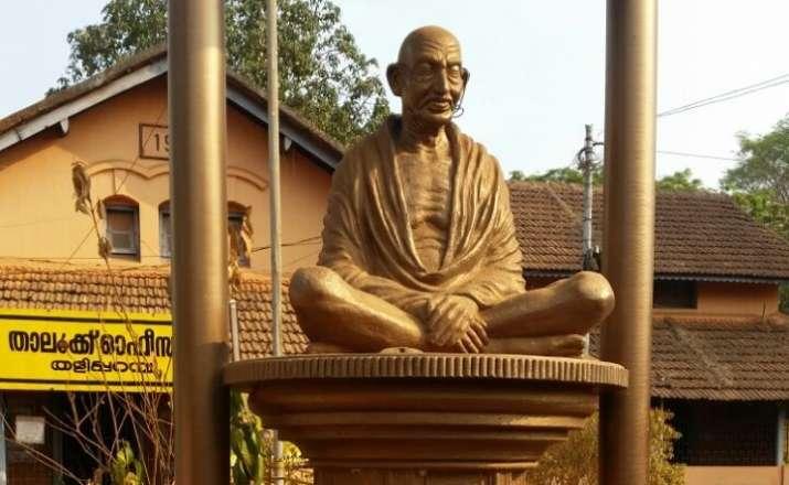 Mahatma Gandhi's statue vandalised in Kerala's Kannur