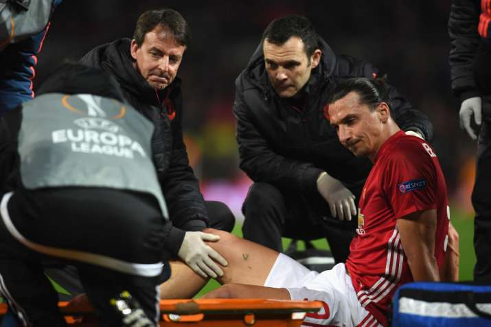 India Tv - Ibrahimovic suffered an injury in December 2016 against Burnley, keeping him out for months