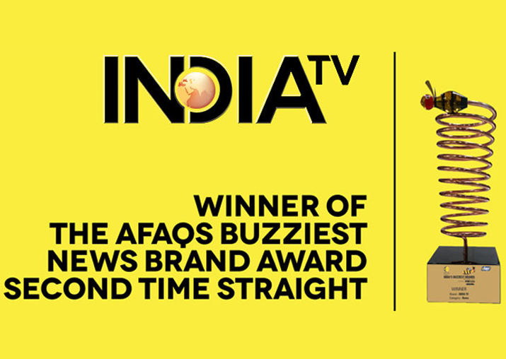India TV awarded 'Buzziest Brand of the Year' in news