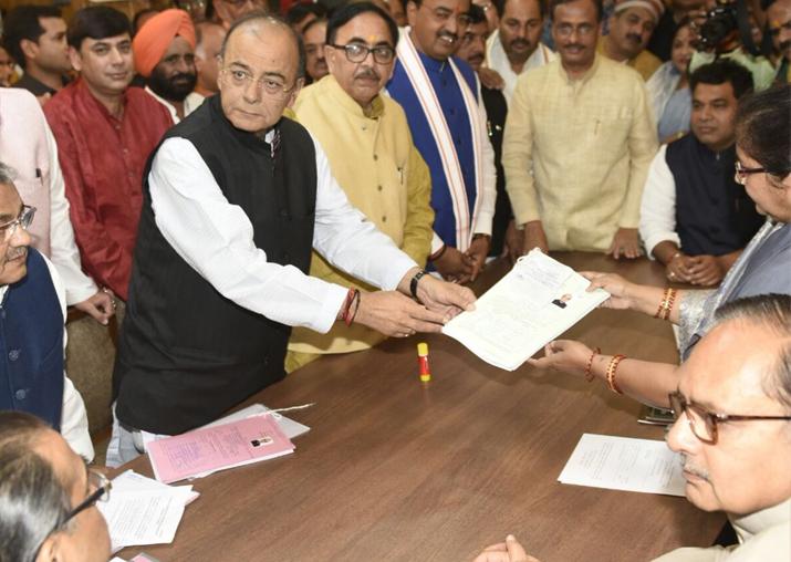 Rajya Sabha polls: Arun Jaitley files nomination from Uttar
