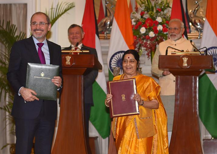 External Minister Sushma Swaraj and Jordanian Foreign