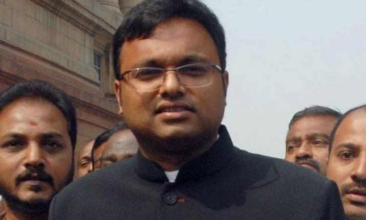 Karti was on March 24 given bail by the high court in