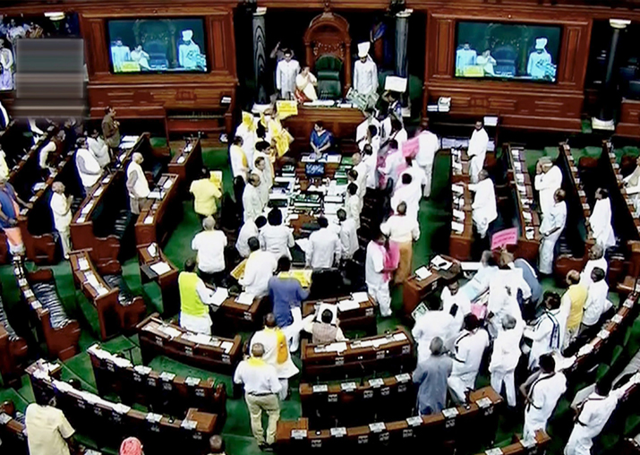 No trust motion not taken up, Lok Sabha adjourned for the