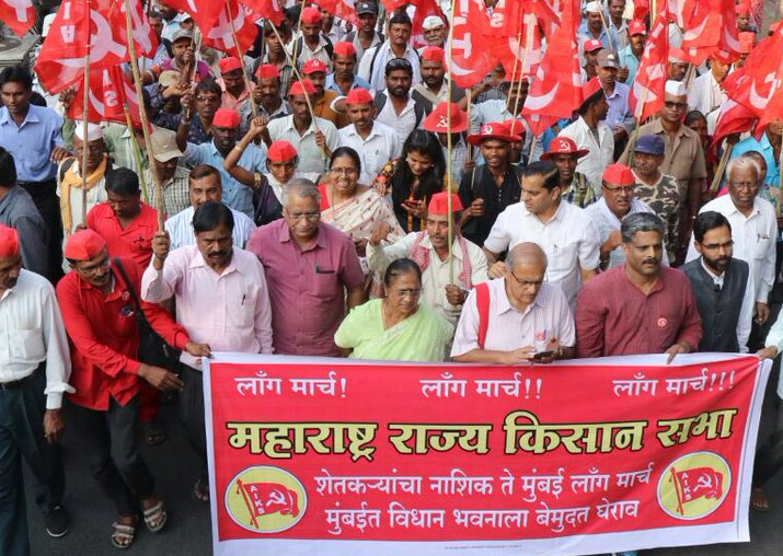 Maharashtra: Farmers continue Nashik to Mumbai march