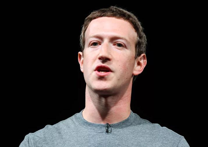 File pic of Facebook founder Mark Zuckerberg