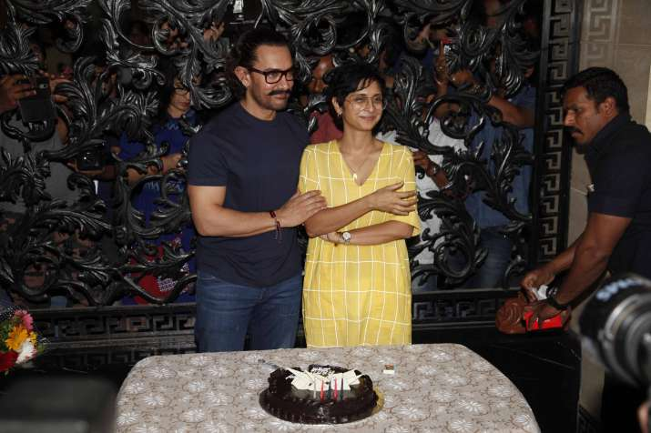 India Tv - Aamir Khan with wife Kiran Rao