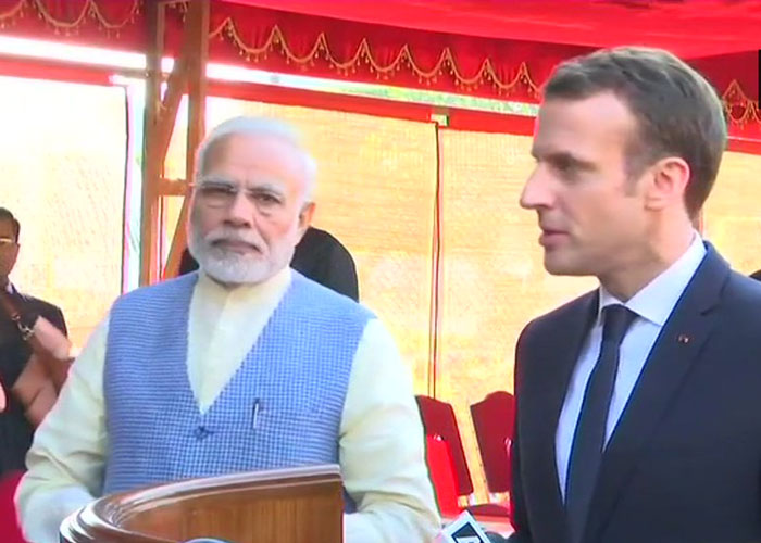 PM Narendra Modi and French President Emmanuel Macron.