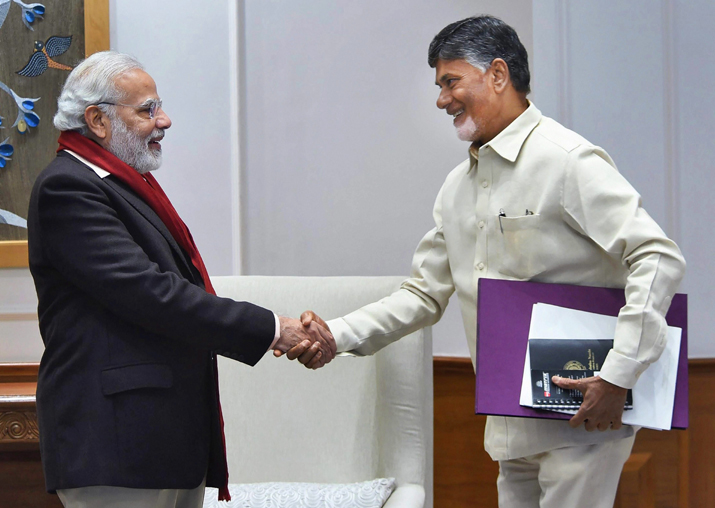 In this file photo PM Narendra Modi is seen with TDP