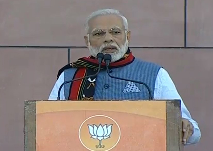 PM Narendra Modi speaks at BJP HQ in New Delhi