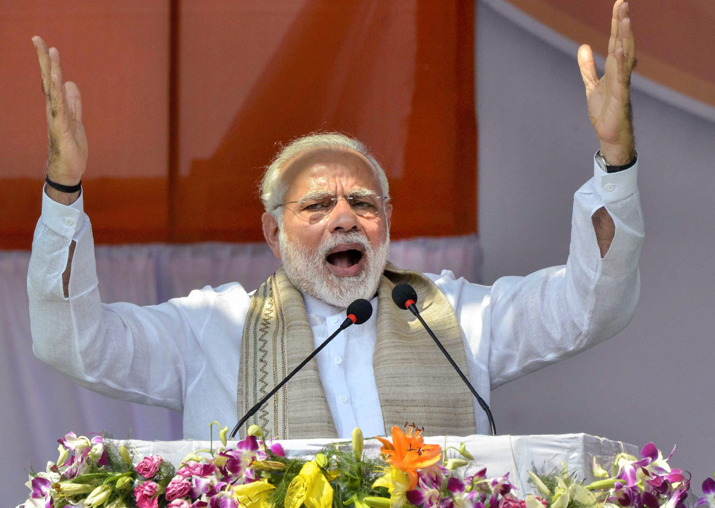 PM Narendra Modi speaks during the swearing-in ceremony of
