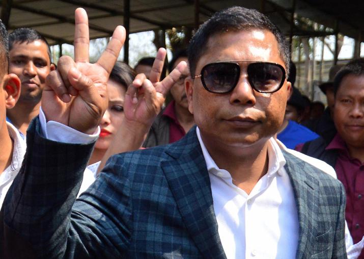 Meghalaya Chief Minister and Congress candidate Mukul