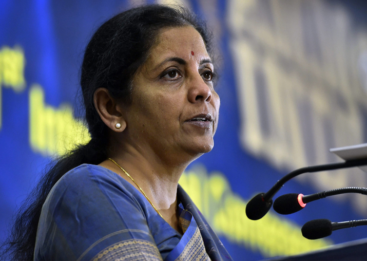 Defence Minister Nirmala Sitharaman addresses the 1st