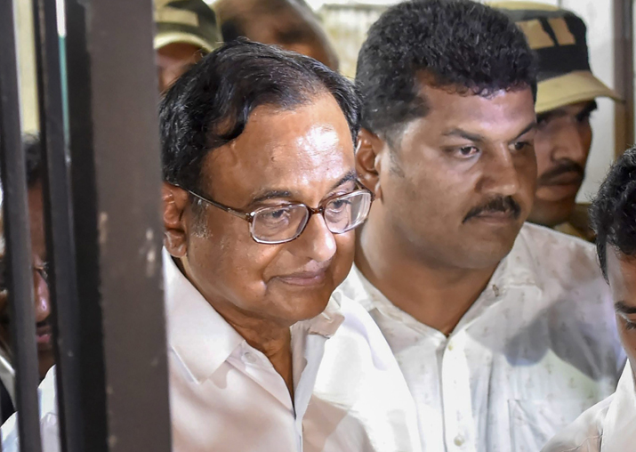 Former finance minister P Chidambaram leaves Patiala House