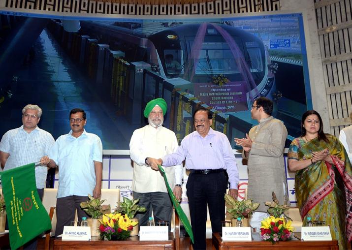 Delhi CM Arvind Kejriwal along with Transport Minister