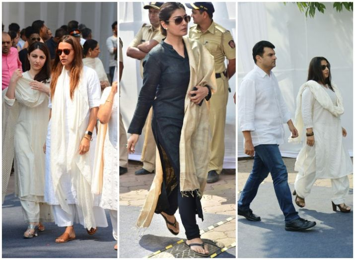 India Tv - Celebs at Sridevi's last rites