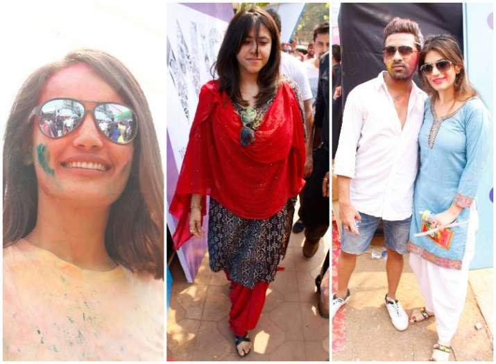 TV celebs at Ekta Kapoor Holi bash