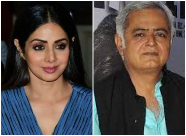 Filmmaker Hansal Mehta says his film with Sridevi was about