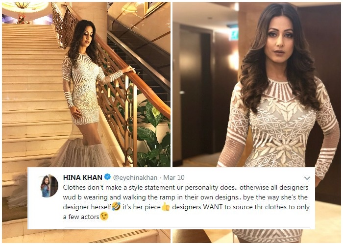 Hina Khan Gets Back At Trolls Who Mocked Her Broom Like Dress Only To Get Trolled Again Tv News India Tv