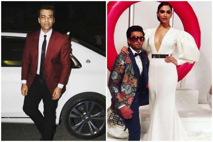 Deepika Padukone, Ranveer Singh, Karan Johar