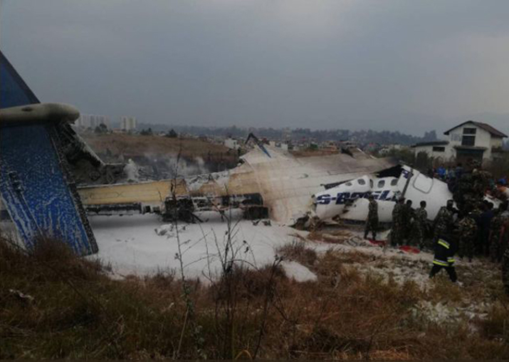 US-Bangla airlines passenger aircraft crashes at Nepal's