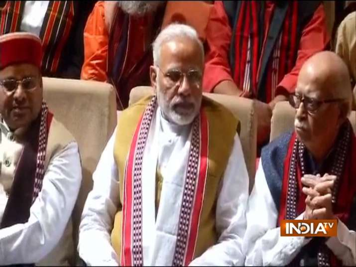 PM Narendra Modi at BJP parliamentary meting in New Delhi.