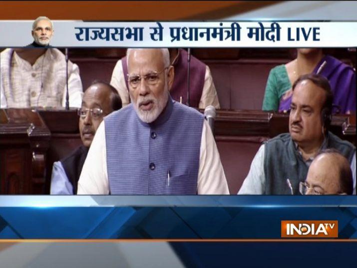 PM Modi thanks outgoing Rajya Sabha members for their