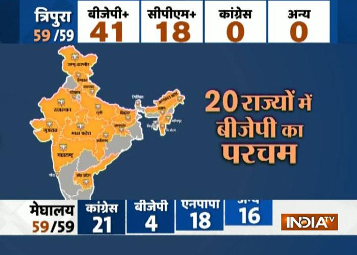 India Tv - Saffron Saturday in Tripura