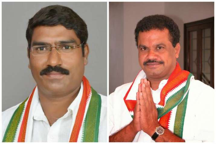 Disqualified Congress MLAs Komatireddy Venkat Reddy and SA