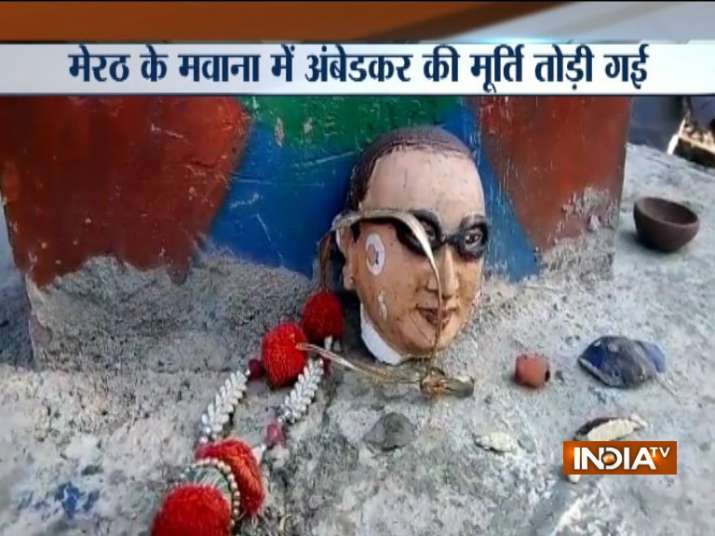 Ambedkar's statue vandalised in UP's Mawana district;