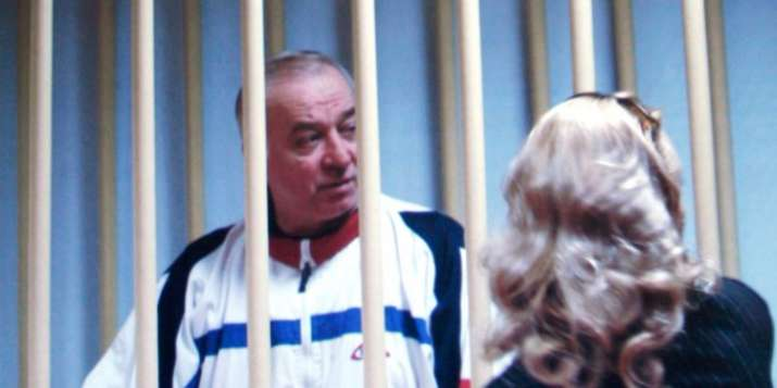 Sergei Skripal speaks to his lawyer from behind bars in a