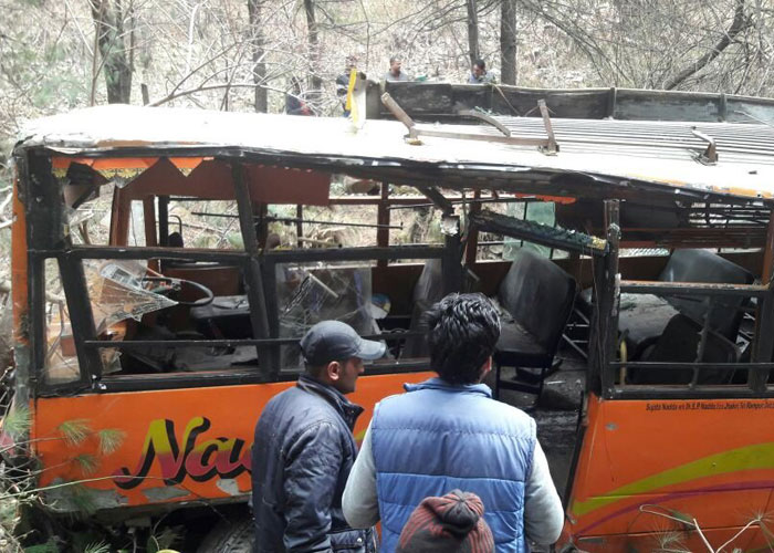 Bus carrying 25 passengers rolls down a cliff in Shimla's