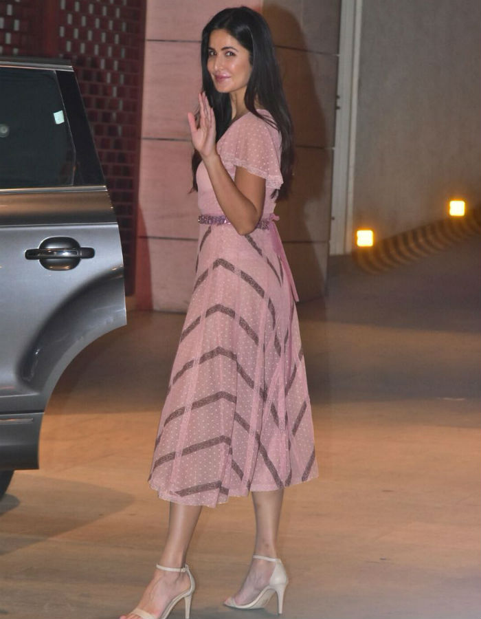 India Tv - Katrina dazzled in a beautiful outfit at the event to celebrate the occasion. Shloka and Akash Ambani are likely to tie the knot later this year