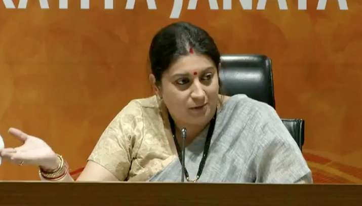BJP leader Smriti Irani levies fresh graft charges against
