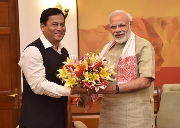 File pic - Assam CM Sarbananda Sonowal and PM Narendra Modi