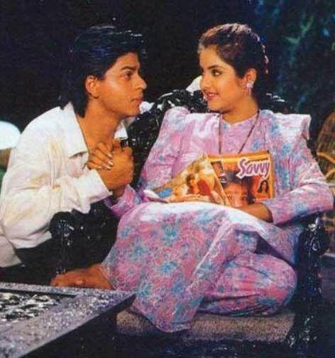 India Tv - Shah Rukh Khan and late Divya Bharti on the sets of Deewana.