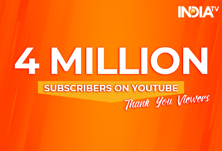 Thank You Viewers: IndiaTV crosses 4 million subscribers on