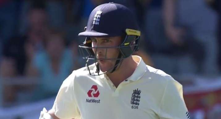 India Tv - England's Stuart Broad reacts after being dismissed.
