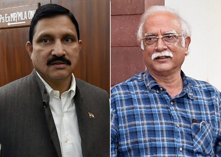 Telugu Desam Party ministers Ashok Gajapathi Raju and YS