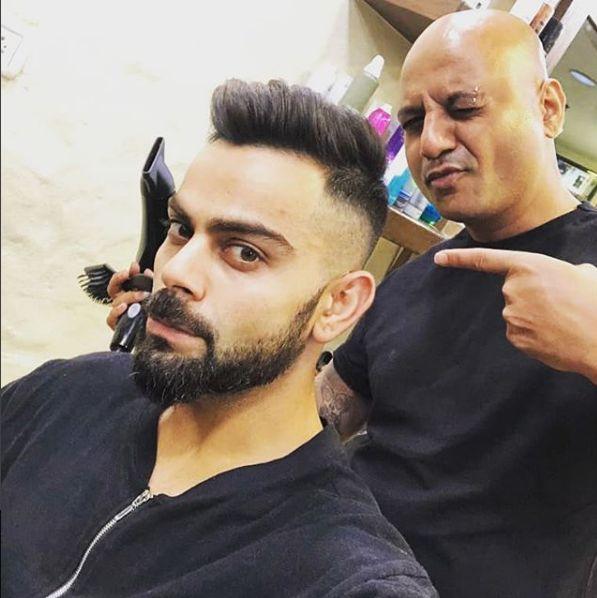 India Tv - Virat Kohli's new haircut
