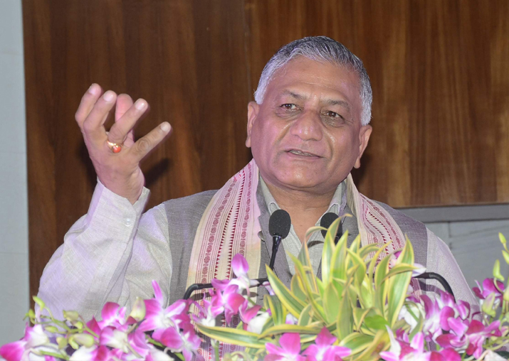 V K Singh, minister of state in the External Affairs