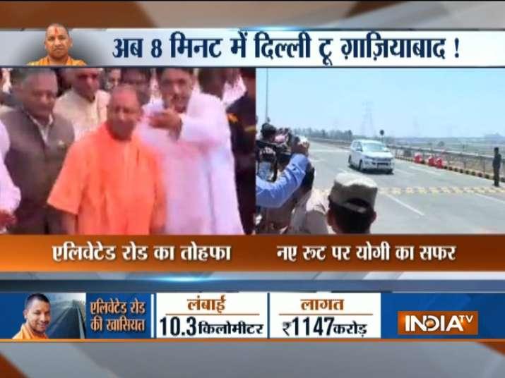 Yogi Adityanath inaugurates 10.3-km Hindon elevated road