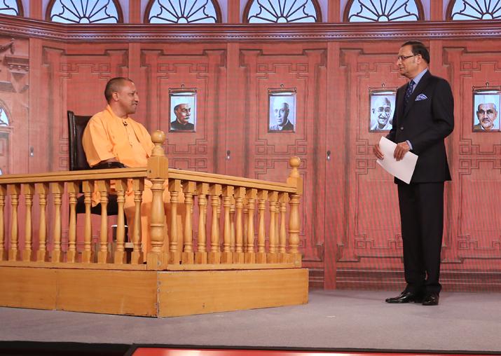 Rajat Sharma grills UP CM Yogi Adityanath in Aap Ki Adalat