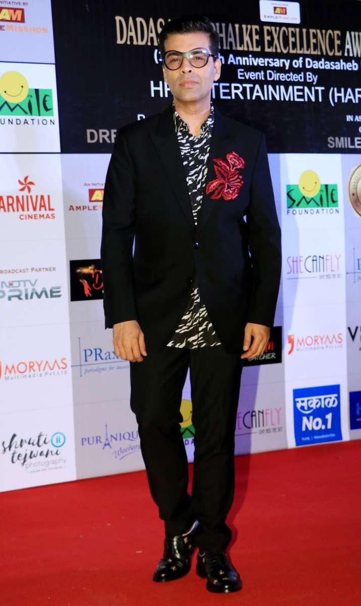 India Tv - Karan Johar at Dadasaheb Phalke Awards 2018