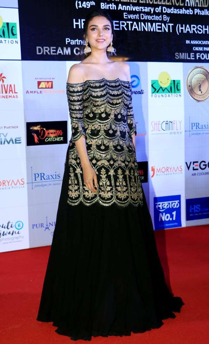 India Tv - Aditi Rao Hydari at Dadasaheb Phalke Awards 2018