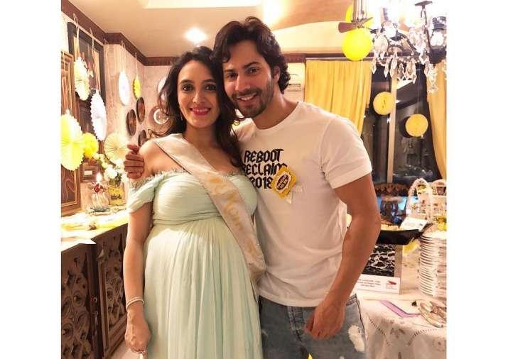 Family Time Varun Dhawan Poses With Bhabhi Jaanvi At Her Baby