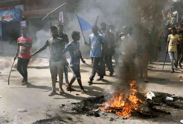 Protestors torch buses, pelts stones in UP; CM appeals for