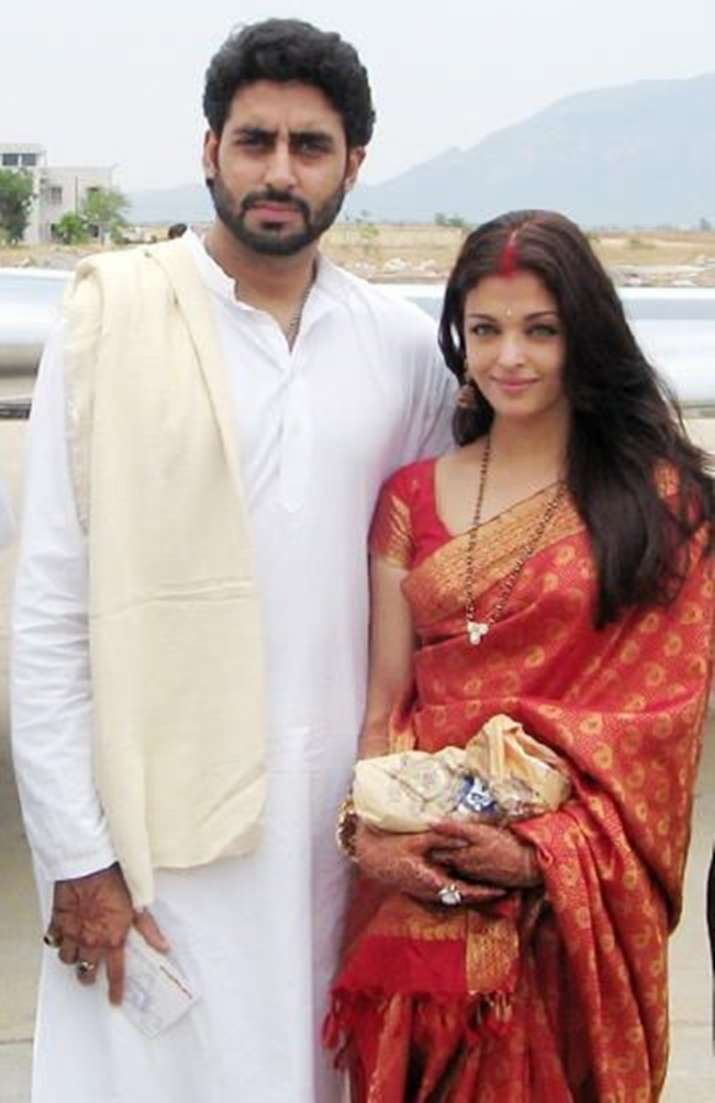 India Tv - Aishwarya Rai with husband Abhishek Bachchan